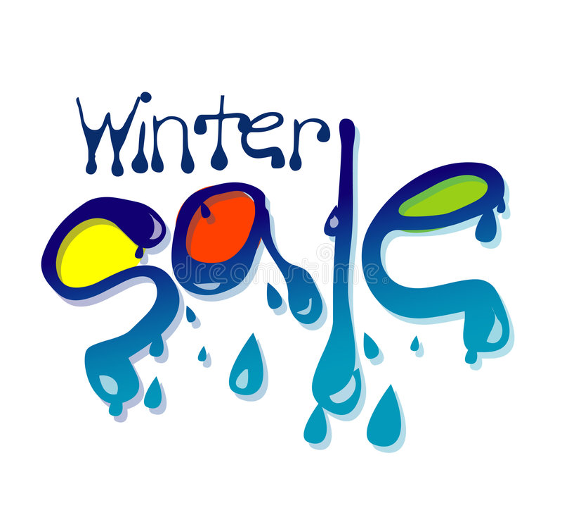 Winter-Verkauf lizenzfreie abbildung