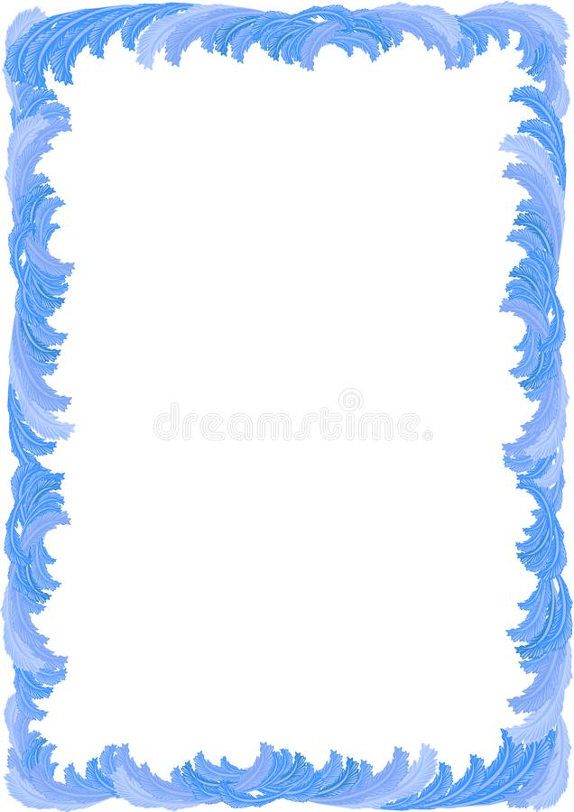 Winter vertical frame. Of frosty ice patterns stock illustration