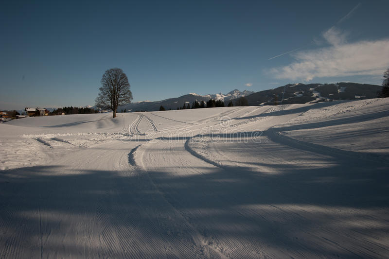 Winter view in Austria royalty free stock photo