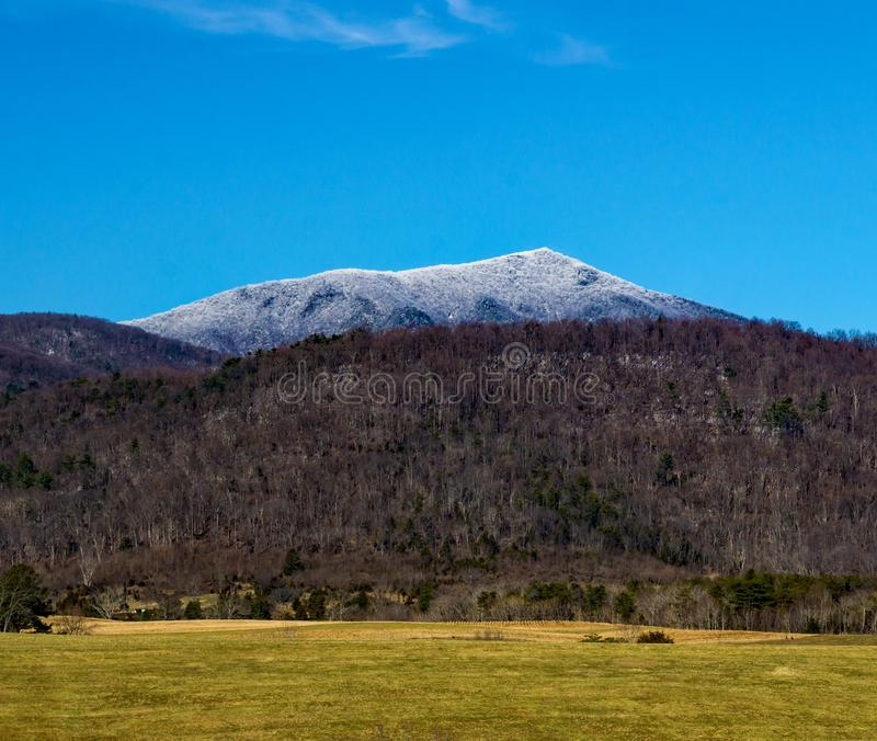 Winter View of Flat Top Mountain. A winter view of Flat Top Mountain located in Bedford County, Virginia, USA royalty free stock photos