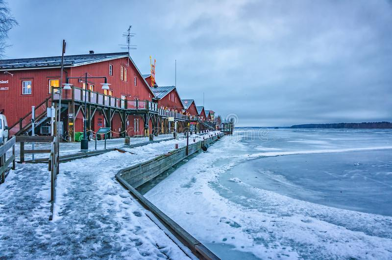 WInter view of Lulea city, Sweden royalty free stock photo