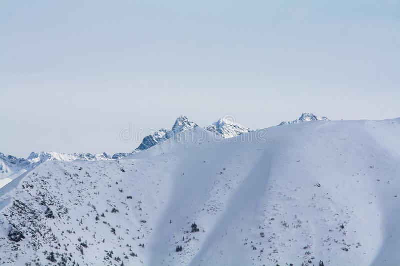 Winter view of the mountains royalty free stock photography