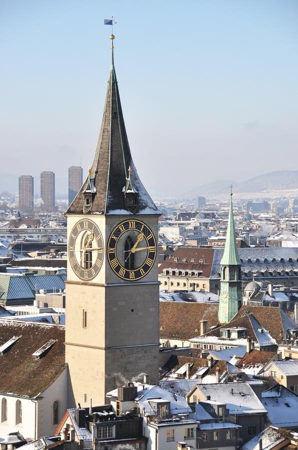 Free Winter View Of Zurich Stock Photo - 45884370