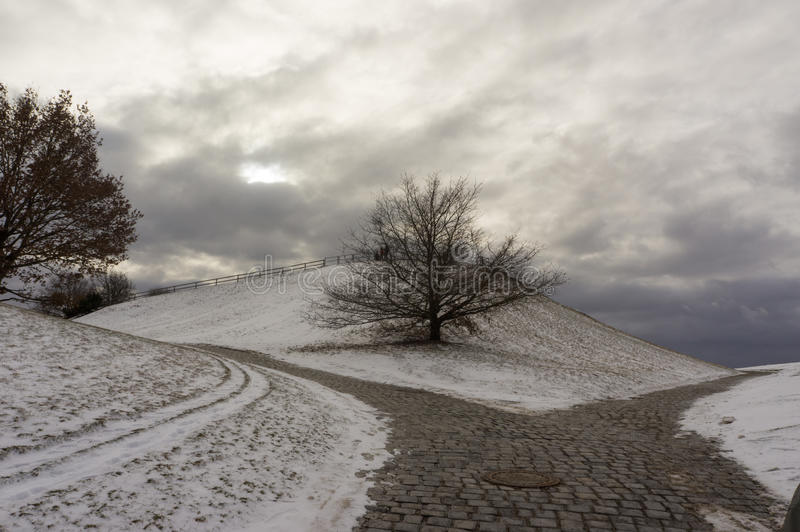 Winter view at Olympiapark Munich Munchen Germany stock images