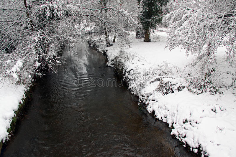 Download Winter View Of River, Snow And Forest Stock Image - Image of seasonal, forest: 12966481
