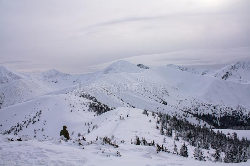 Winter view of the mountains royalty free stock photos