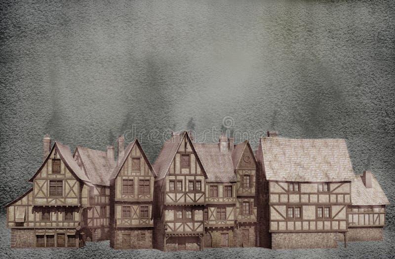 Winter Village royalty free illustration