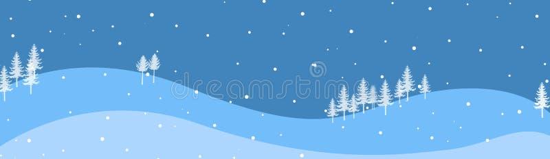 Winter-Vorsatz/Fahne lizenzfreie abbildung