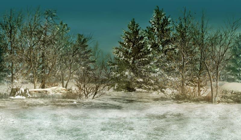 Winter-Wald vektor abbildung
