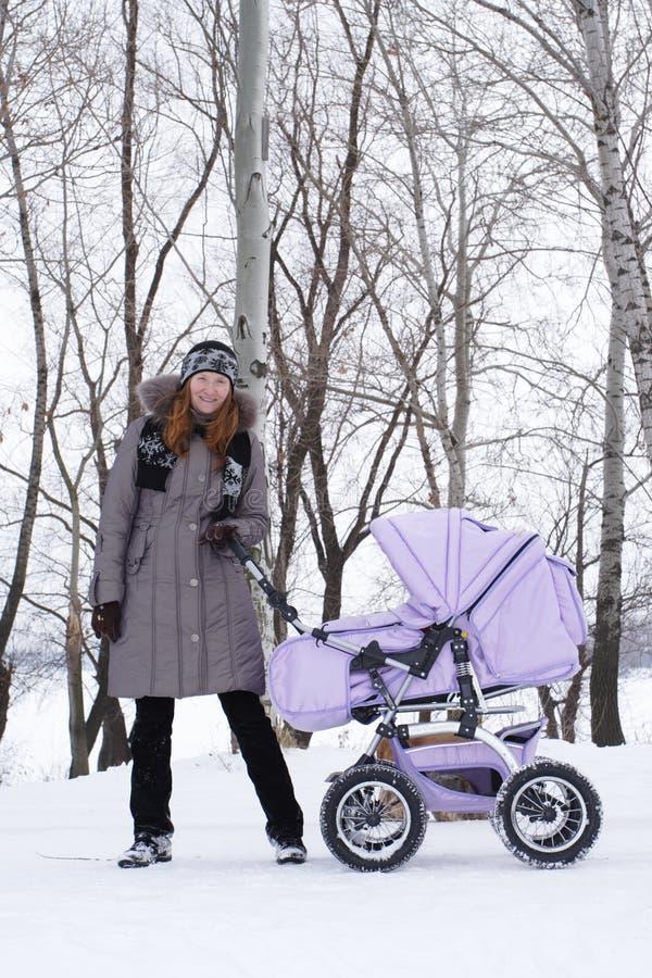 Winter walk stock image