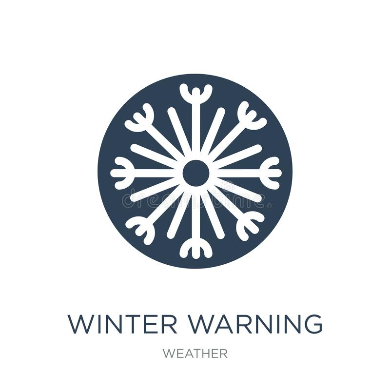 winter warning icon in trendy design style. winter warning icon isolated on white background. winter warning vector icon simple vector illustration