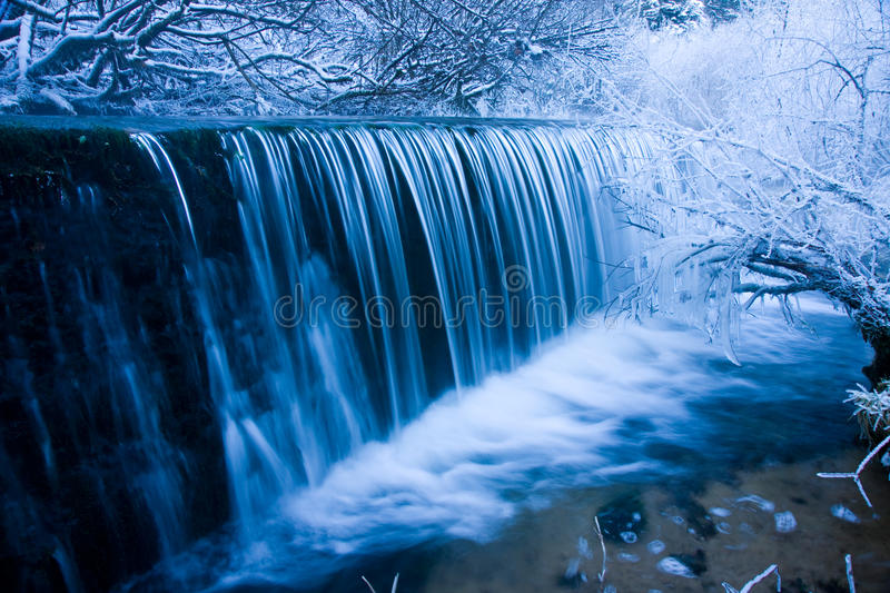 Winter Waterfall Royalty Free Stock Images