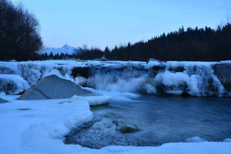 Winter waterfall royalty free stock image