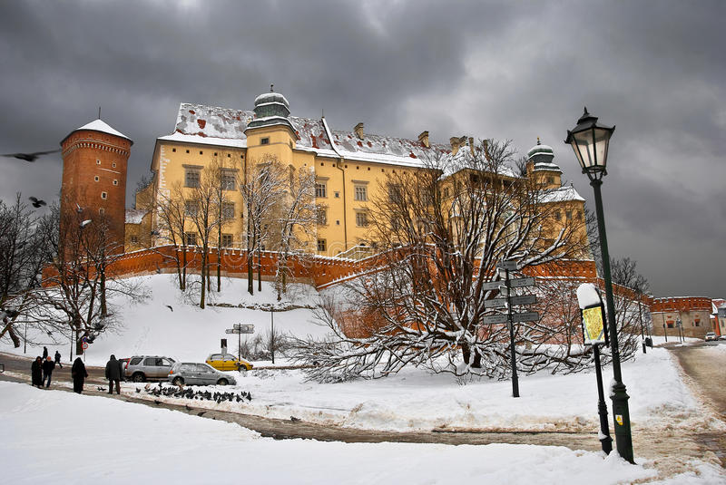 Download Winter Wawel stock photo. Image of sacral, wall, color - 10358540