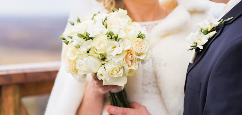 Winter wedding bouquet stock image