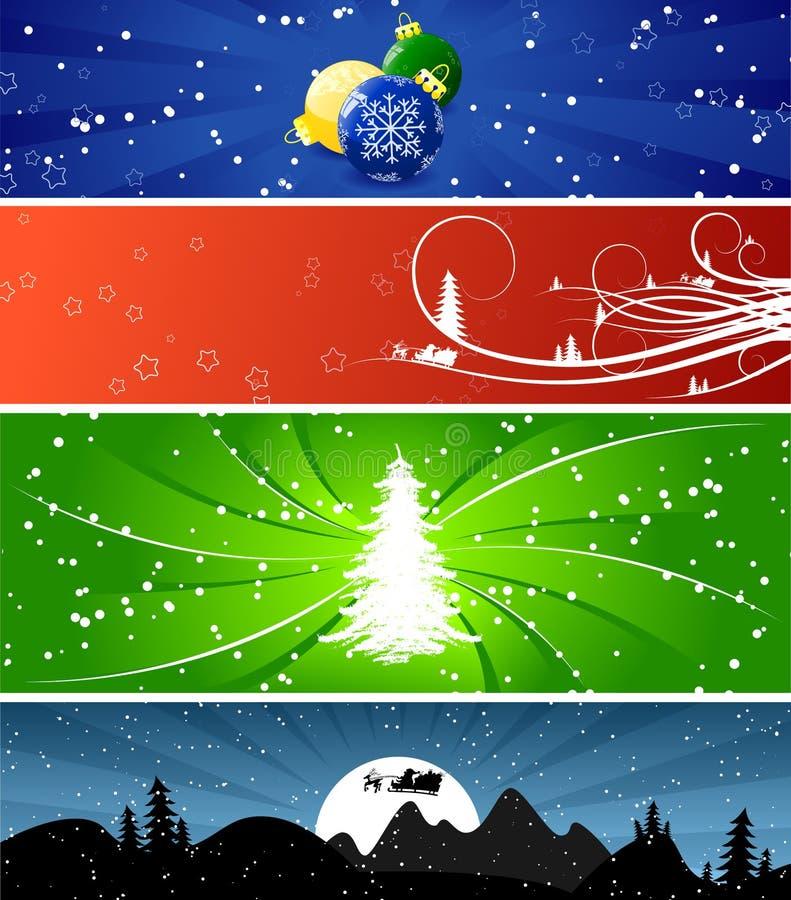 Winter-Weihnachtsfahnen lizenzfreie abbildung