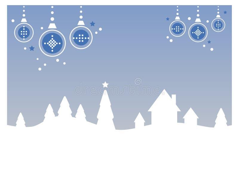 Winter-/Weihnachtslandschaft stock abbildung