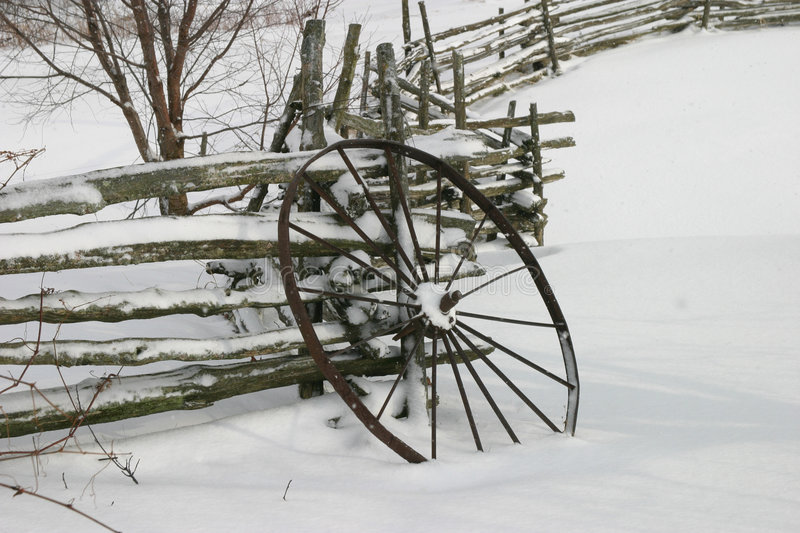 Winter Wheel royalty free stock images
