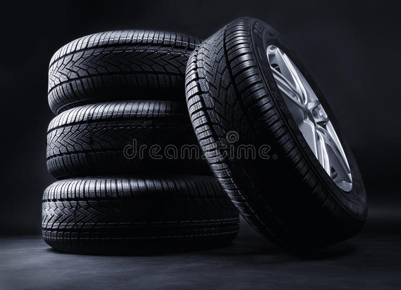 Winter wheels royalty free stock images