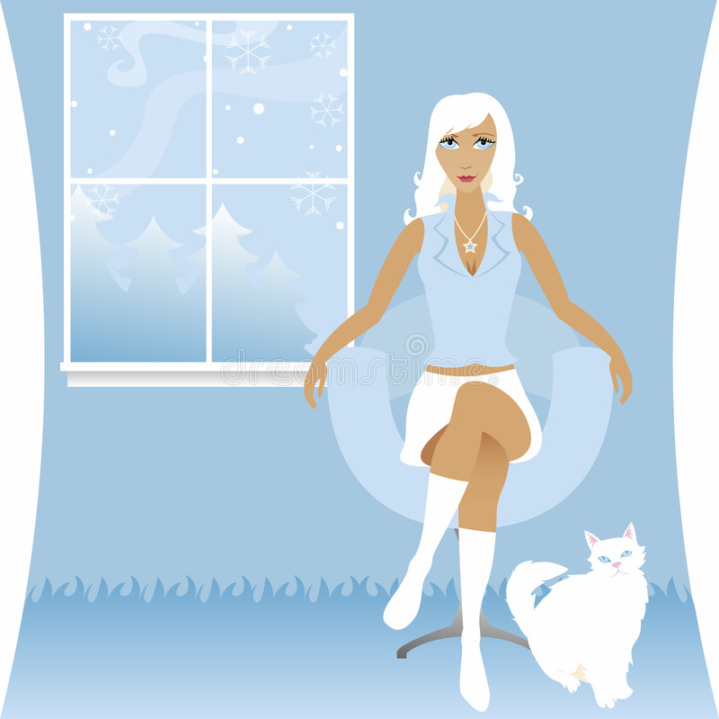Winter White royalty free illustration