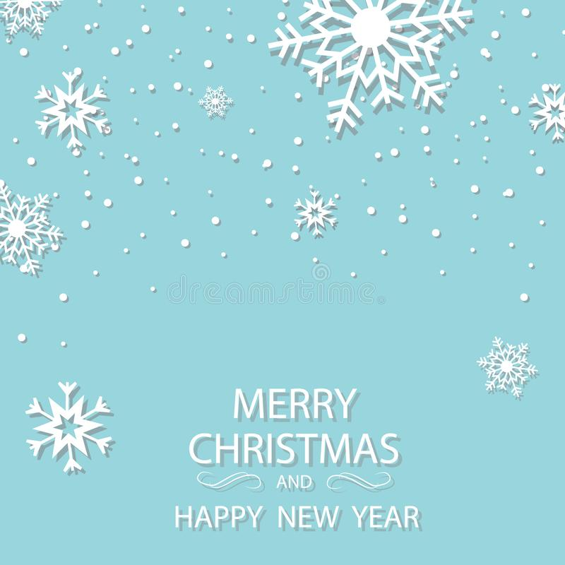 Winter white background christmas made of snowflake and snow with blank copy space for your text, Vector illustration. EPS 10 royalty free illustration