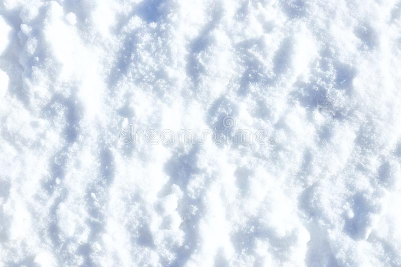Winter white snow texture, snow winter background. copy space stock photography