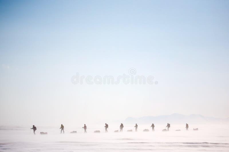 Winter Wilderness Adventure stock images