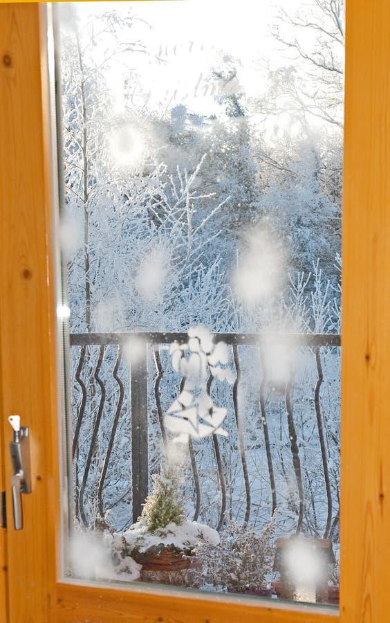 Winter window royalty free stock photo