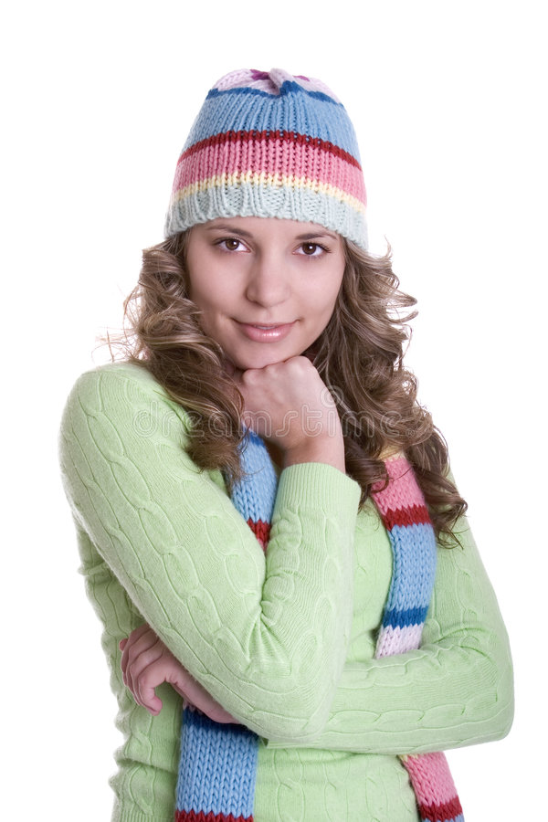 Winter Woman stock images