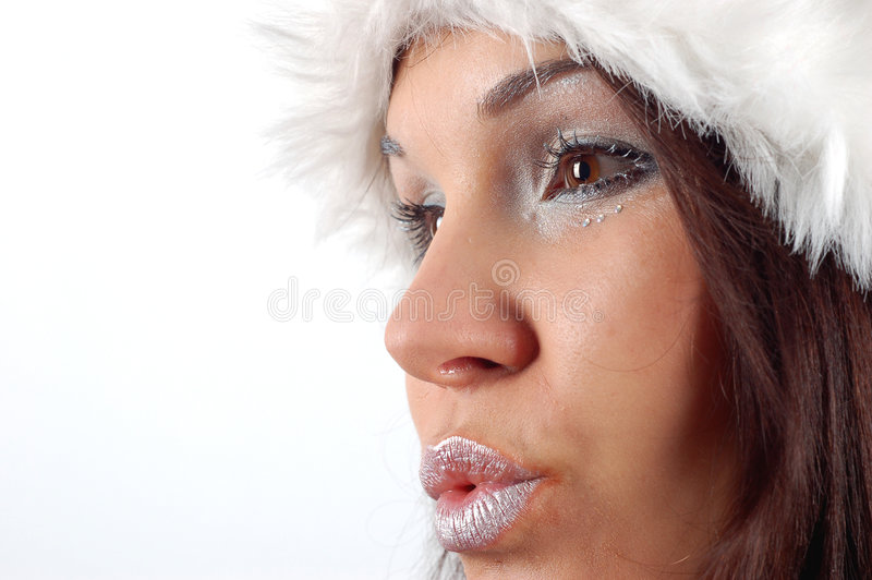 Winter woman #9 royalty free stock photo