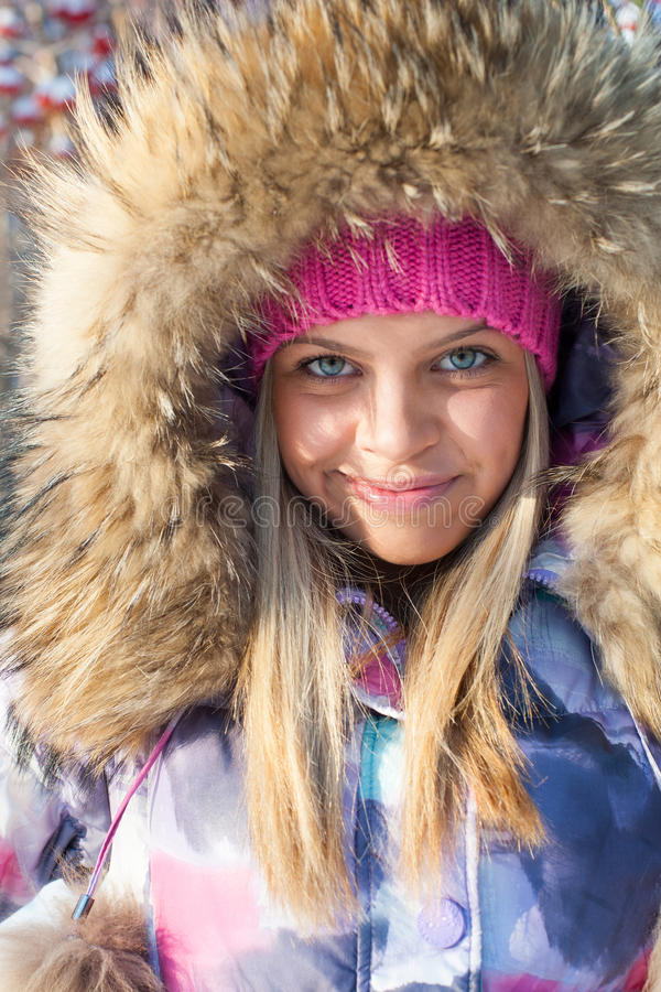 Download Winter woman in park stock image. Image of activity, nature - 22260461