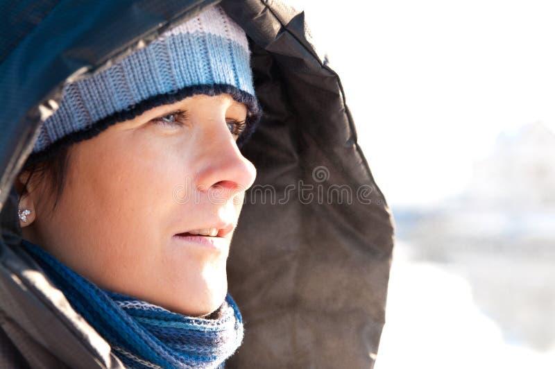 Download Winter woman portrait stock image. Image of copyspace - 12574349