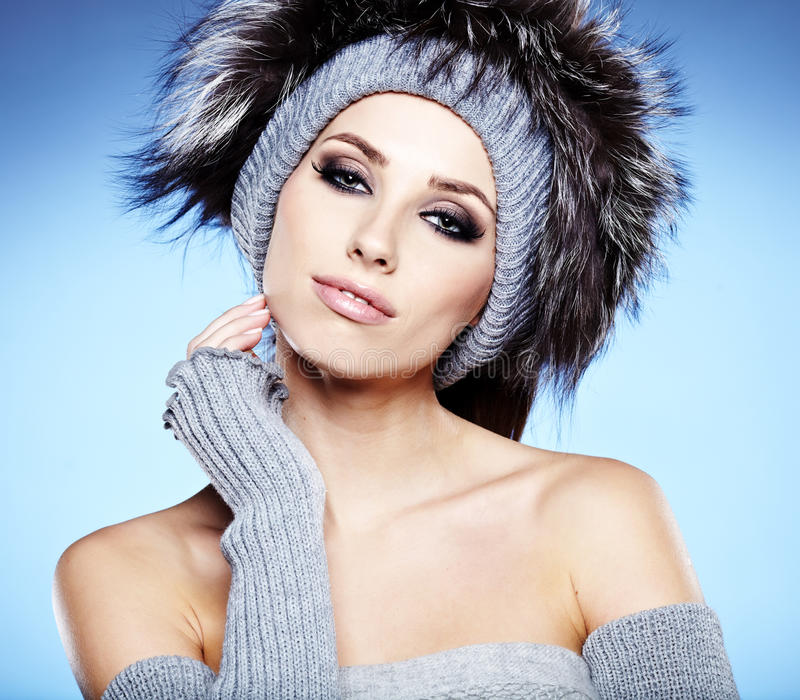 Download Winter Woman Portrait stock photo. Image of accessories - 28051550