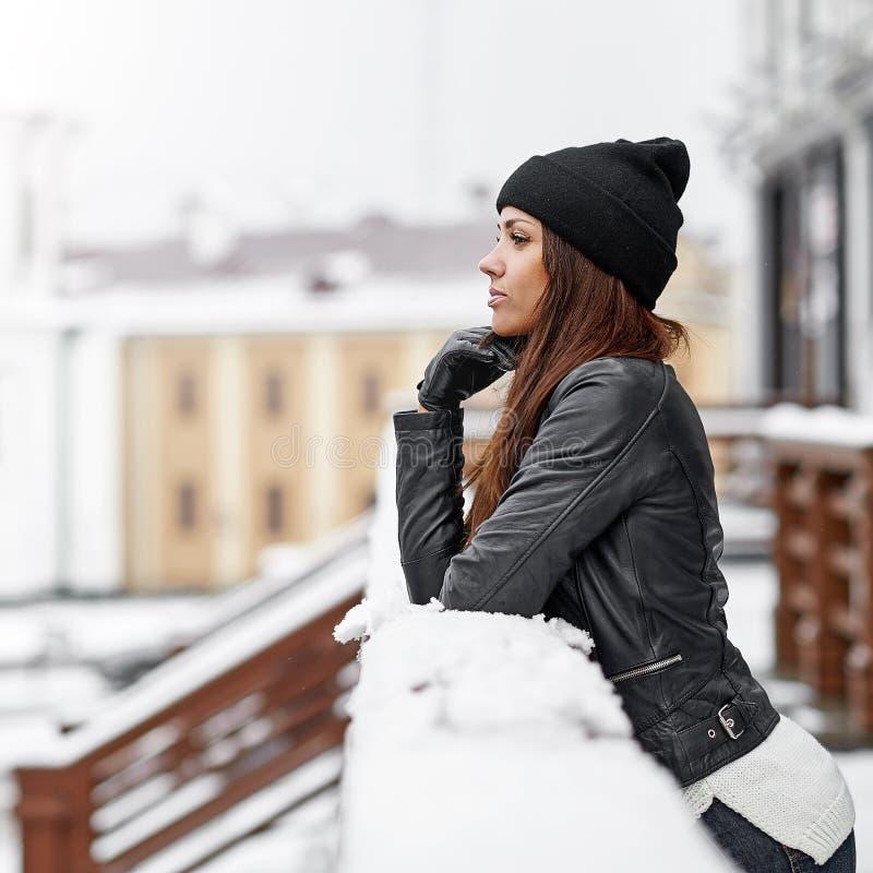 Winter woman portrait - close up.  stock photography