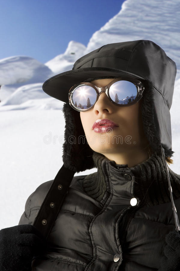 Download Winter woman in the snow stock image. Image of clothes - 11434245