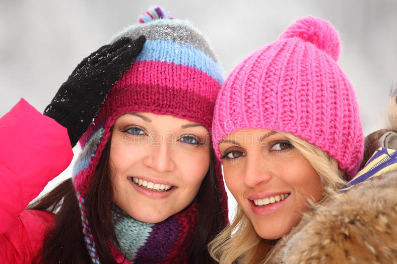 Winter women royalty free stock photos