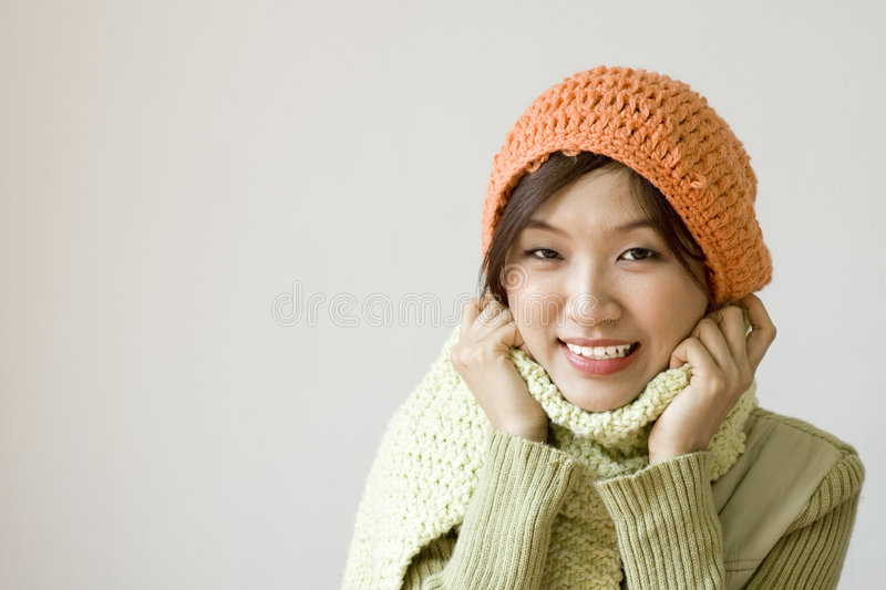 Download Winter women stock photo. Image of chinese, attitude, clothes - 6121952