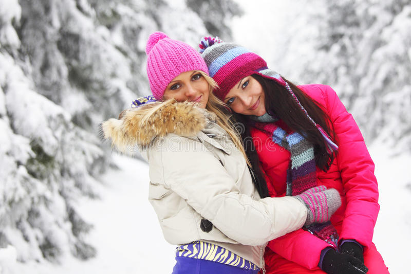 Winter women stock photography