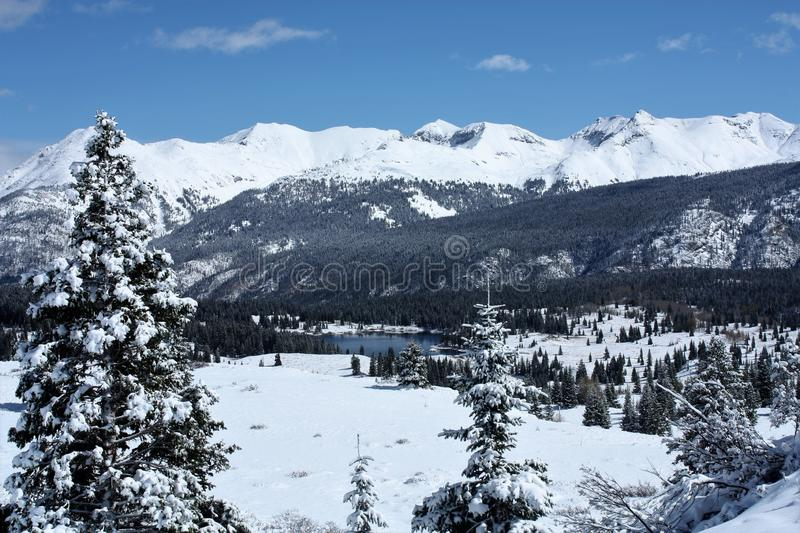 Winter wonderland on Molas Pass Colorado royalty free stock photo