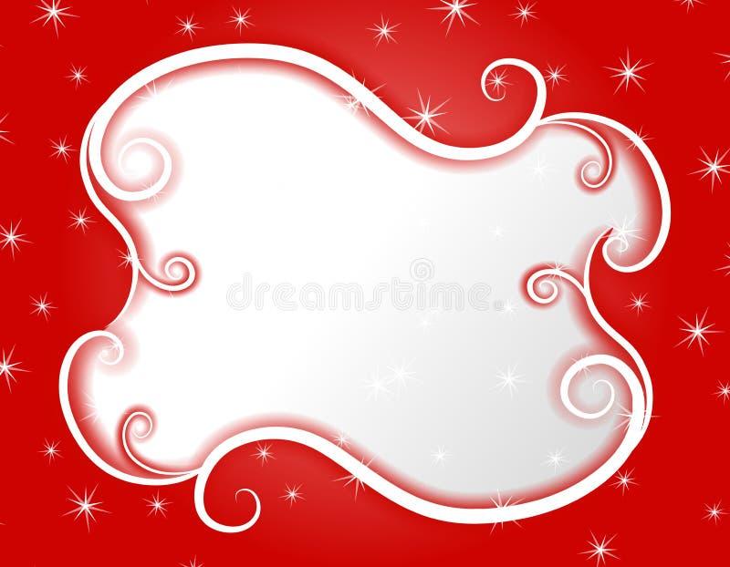 Winter Wonderland Swirls Stars Frame 2 stock illustration