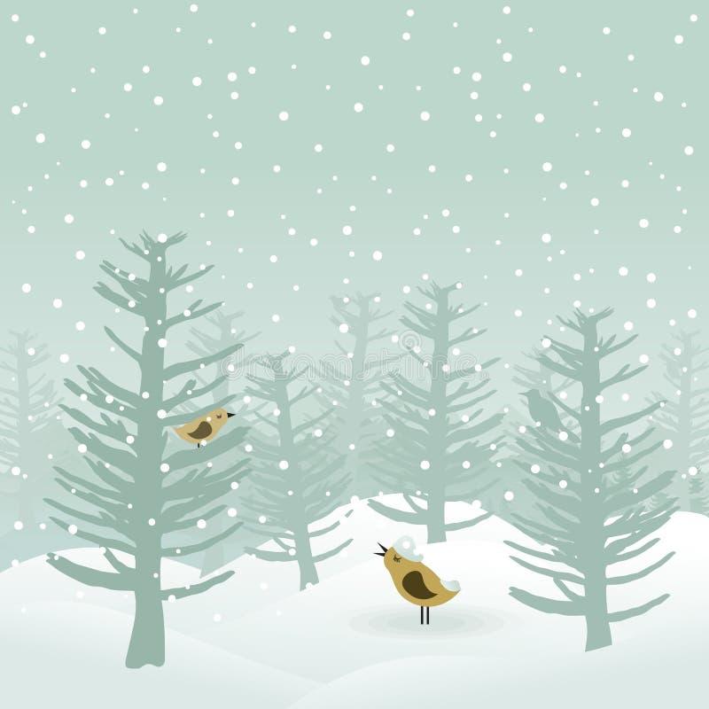 Download Winter wood2 stock vector. Image of hill, vector, terrain - 21807315