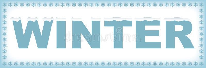 Winter word royalty free illustration