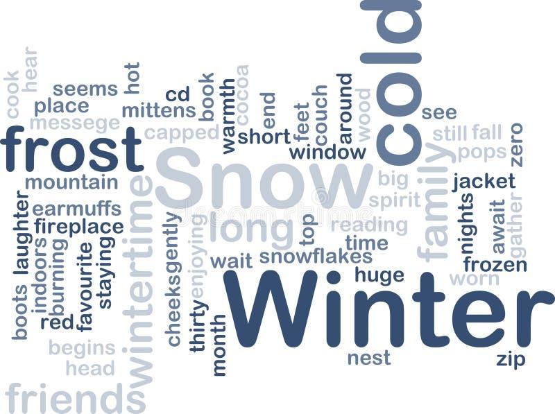 Winter wordcloud. Word cloud concept illustration of winter season vector illustration