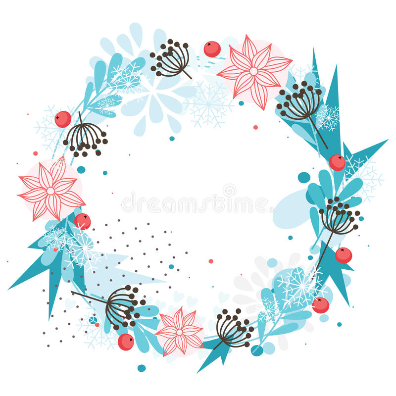 Download Winter wreath stock vector. Illustration of berries, christmas - 27568276