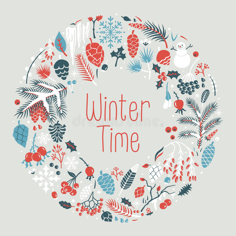 Winter wreath royalty free stock photo