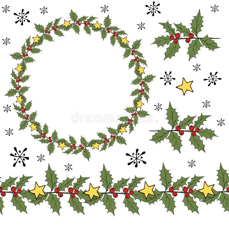 Free Winter Xmas Decoration Illustration. Holly Berry Mistletoe. Christmas Wreath. Winter Xmas Ornament. Vector Ball. Stock Photos - 157804663