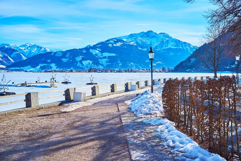 Winter in Zell am See, Austria royalty free stock photos