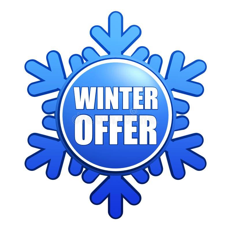 Winterangebot-Schneeflockekennsatz vektor abbildung