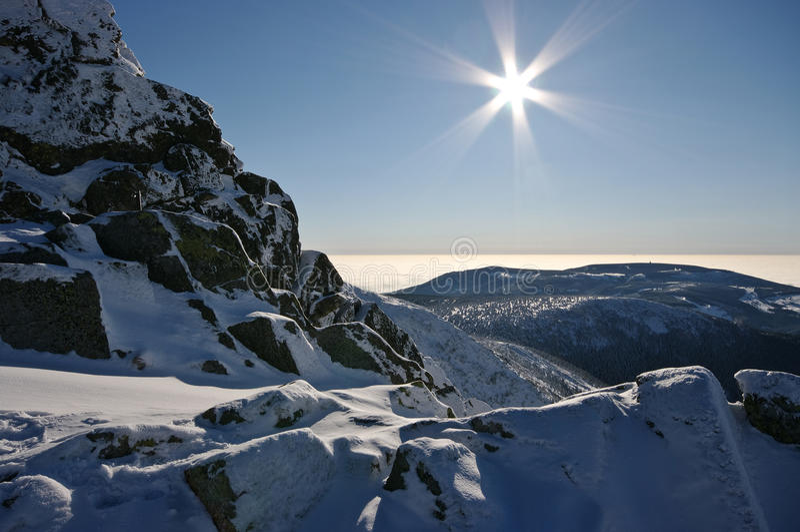 Winteransicht lizenzfreies stockfoto