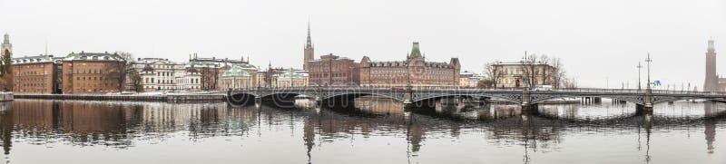 Winteransicht von Stockholm lizenzfreies stockbild